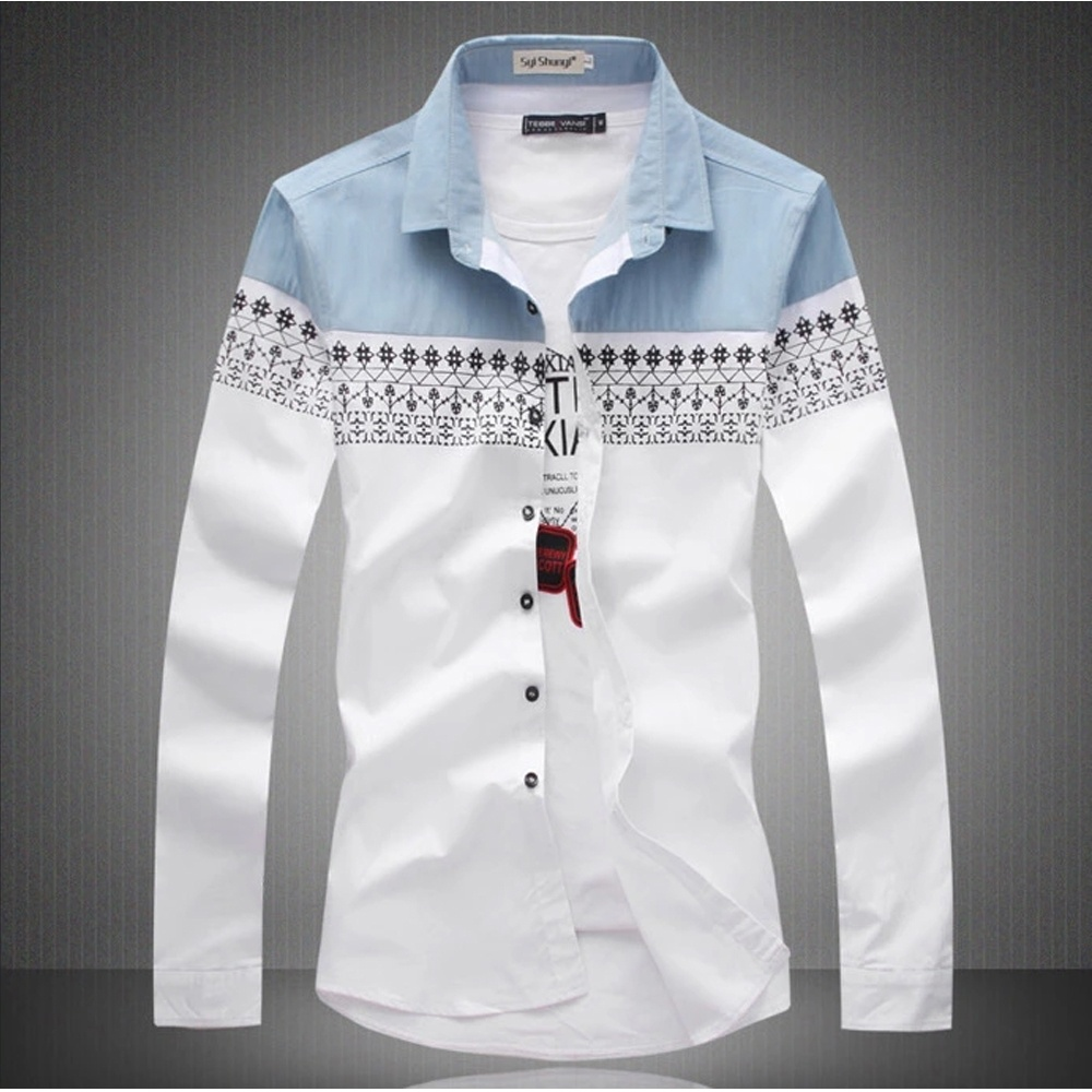 Plus size 4xl mens cotton slim fit dress button down for Mens dress shirt sleeve length