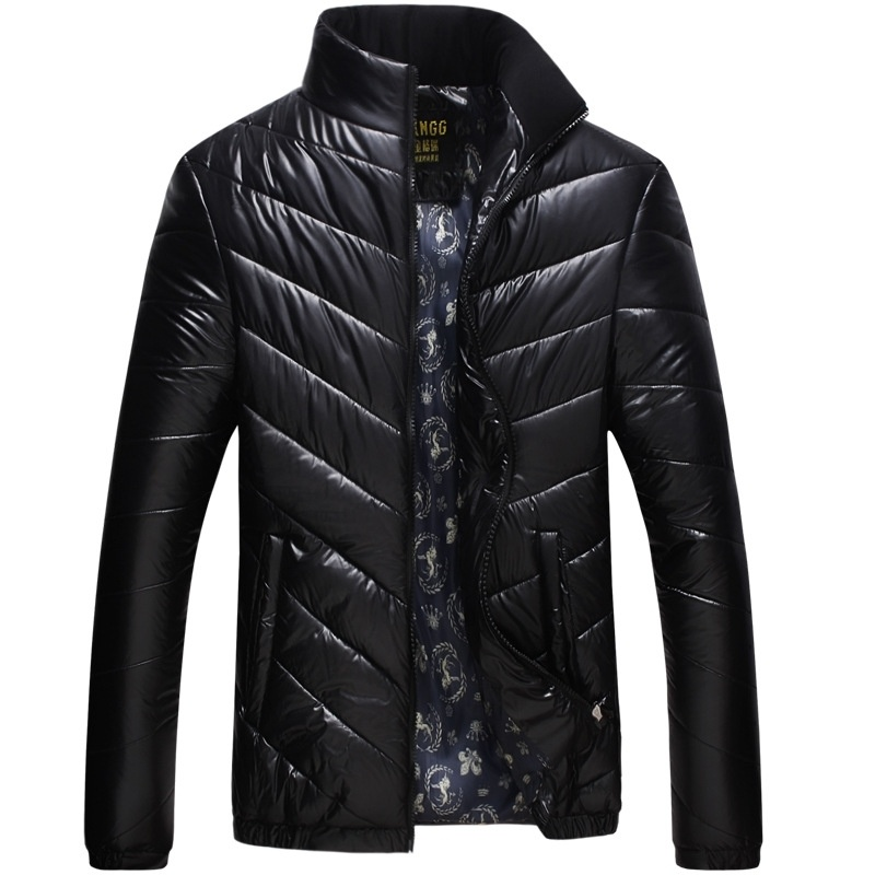 pure Korean men's winter cotton padded collar  coat