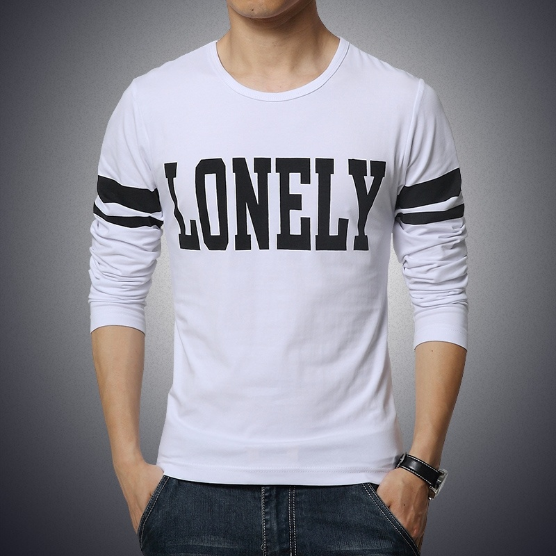 Quality Design Men's Long Sleeve Cotton T- Shirt