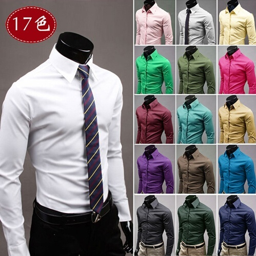 Quantity limited casual shirts men dress shirt men slim ...