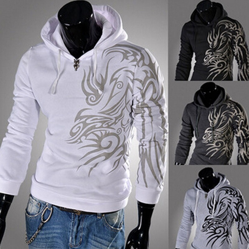 Selling the new dragon hoodies printing men leisure ...