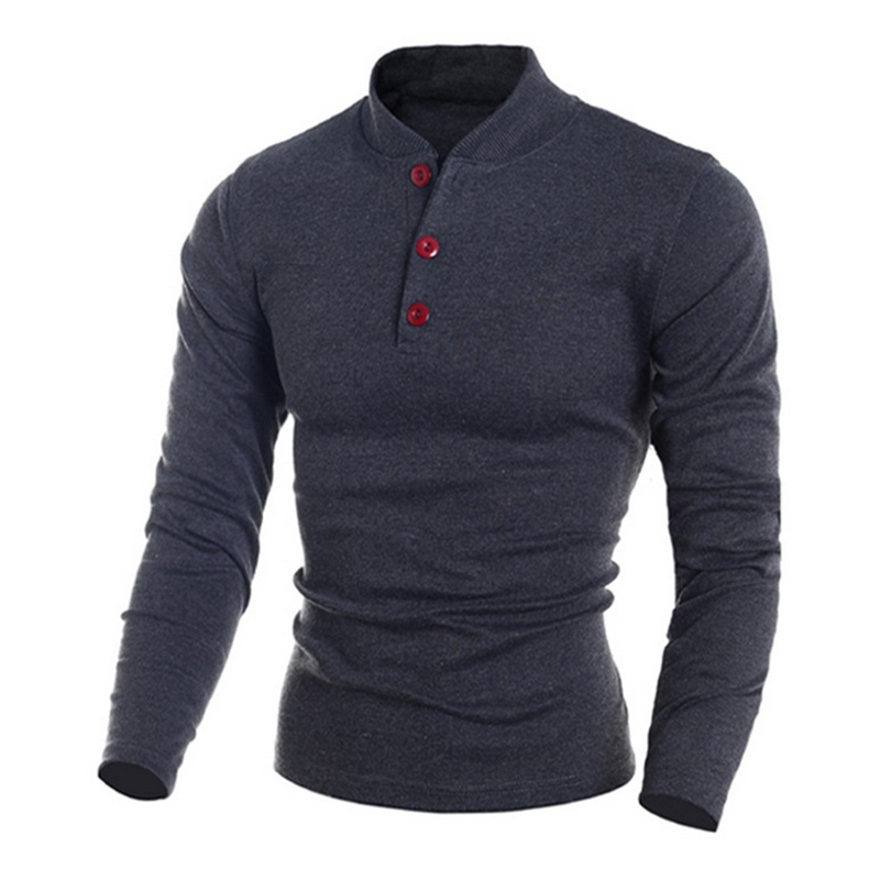 Solid Full Sleeve Slim Men's Polo T-shirt