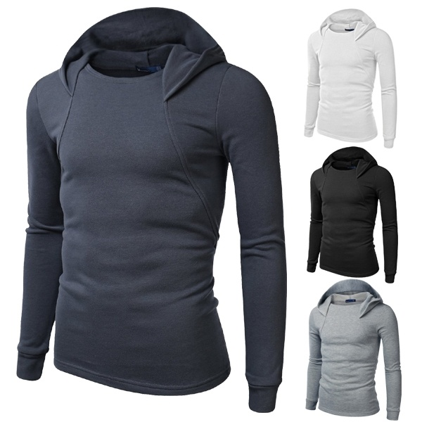 Spring / Autumn Long Sleeve Hooded Slip-on Sweatshirt ...