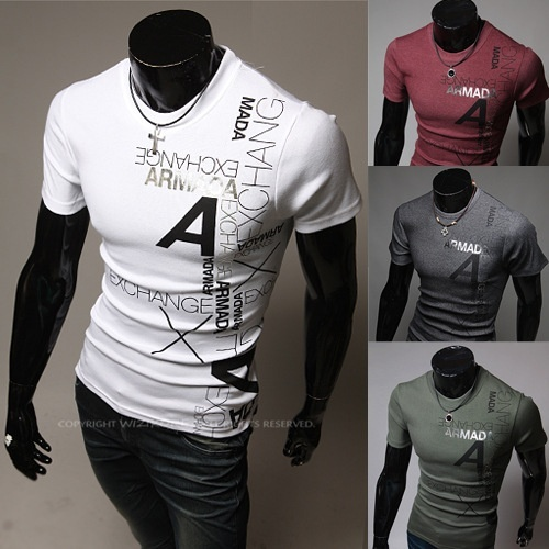 summer fashion men's short sleeve tops & tees shirts ...