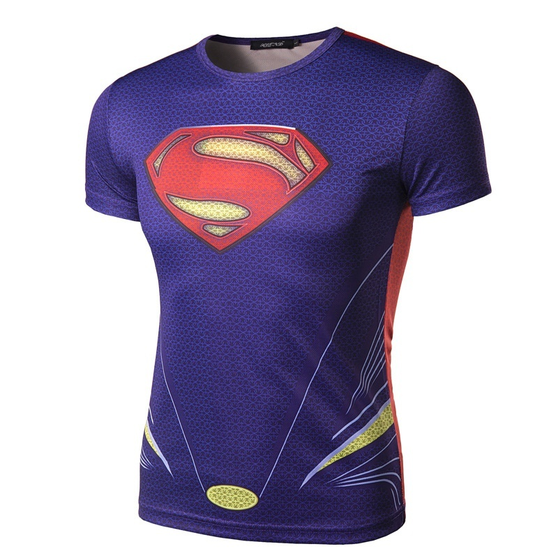 Superman hero alliance Avenger 3D Printing T-shirt quick ...