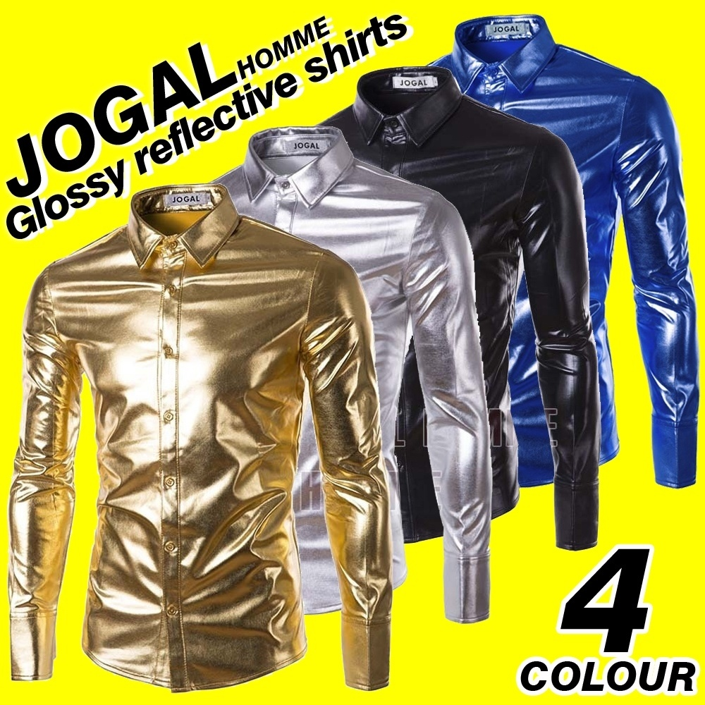 The men's shirts Gold Silver Black B0603