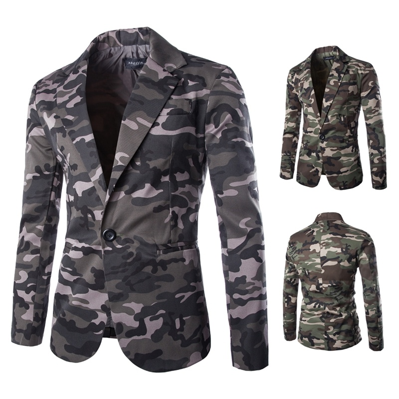 The New Fashion Men's Military Style Camouflage Suit ...