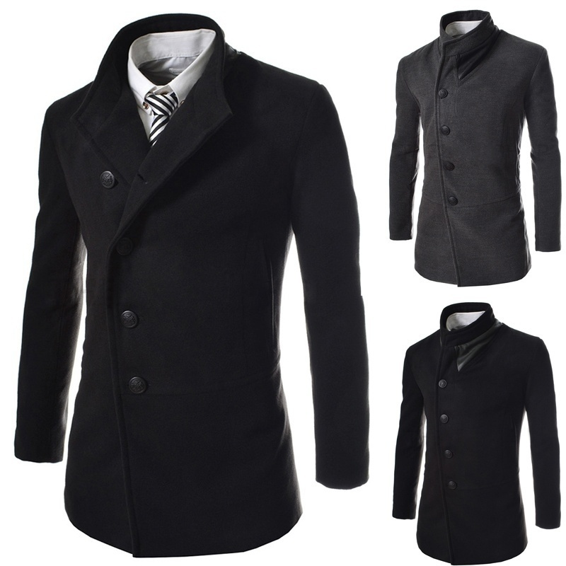 The New Men's Fashion Personality Inclined Single Breasted ...