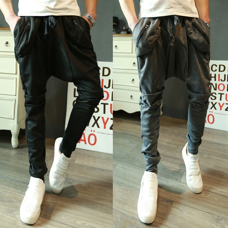 The new trend of Korean men's athletic pants feet against ...