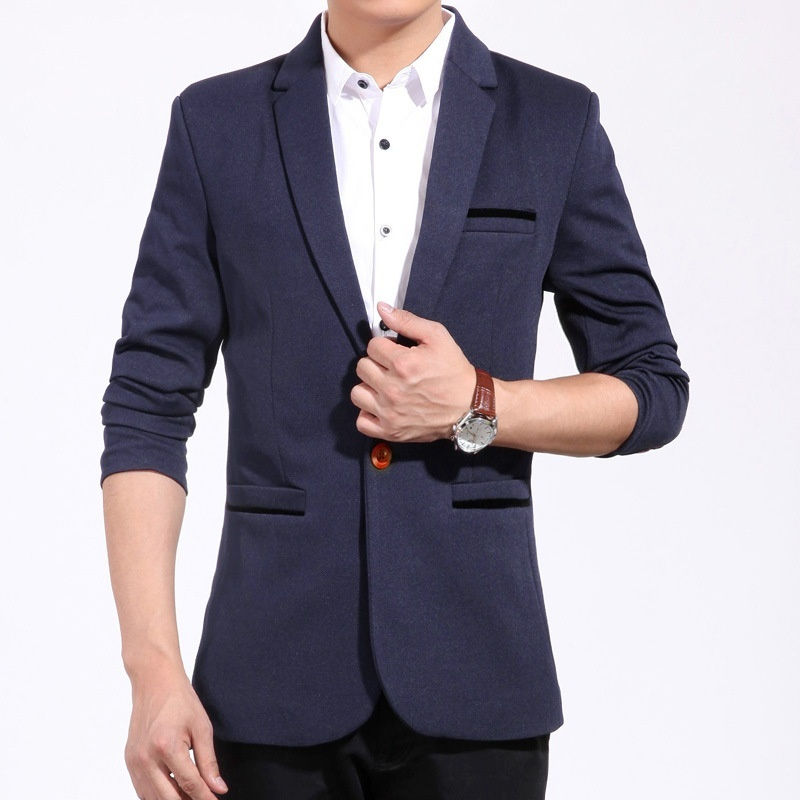 The spring and autumn Korean men leisure suit slim type ...