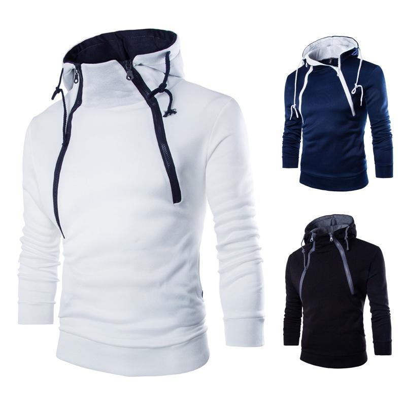 Winter Korean high-end fashion front double zipper design ...