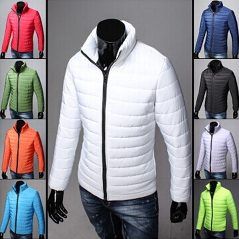 Winter Man Cotton Casual PU Leather Jacket Outdoors ...