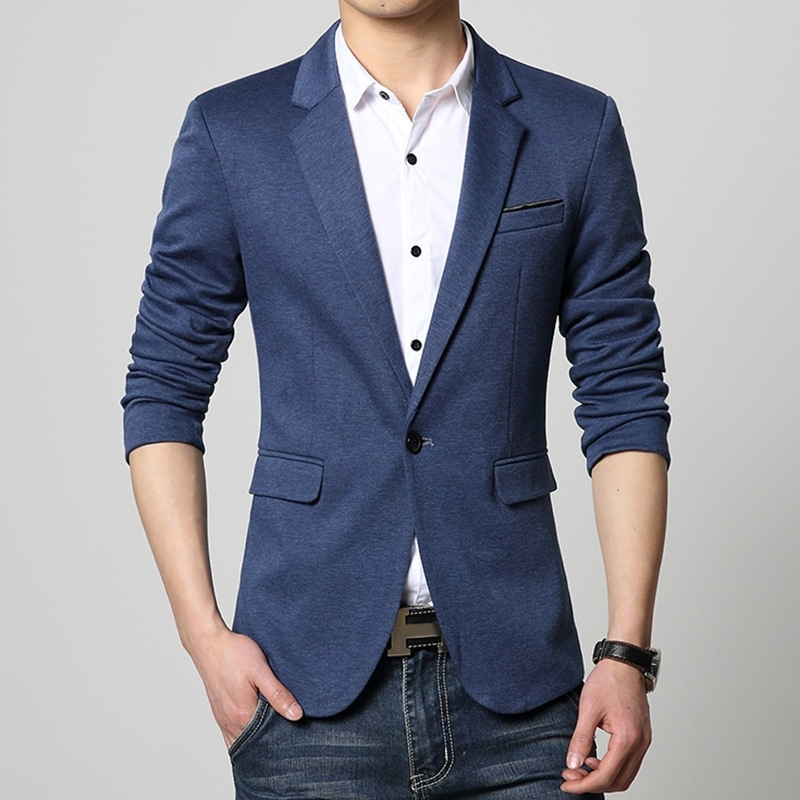 winter men's casual wear, men's suits Slim small suit