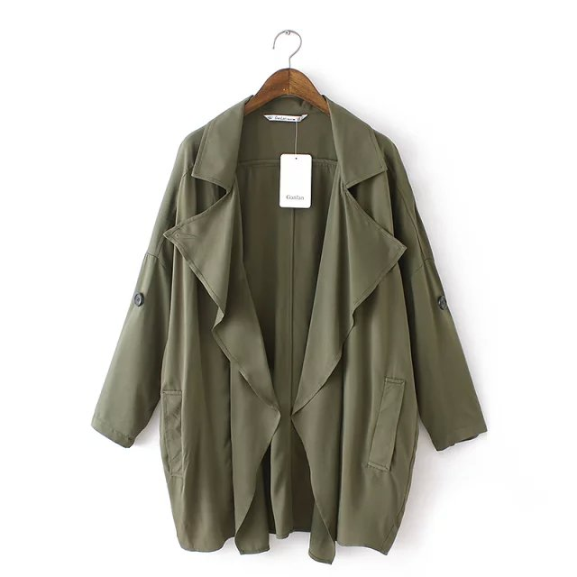 Fashion Autumn elegant Amy Green trench coat for women ...