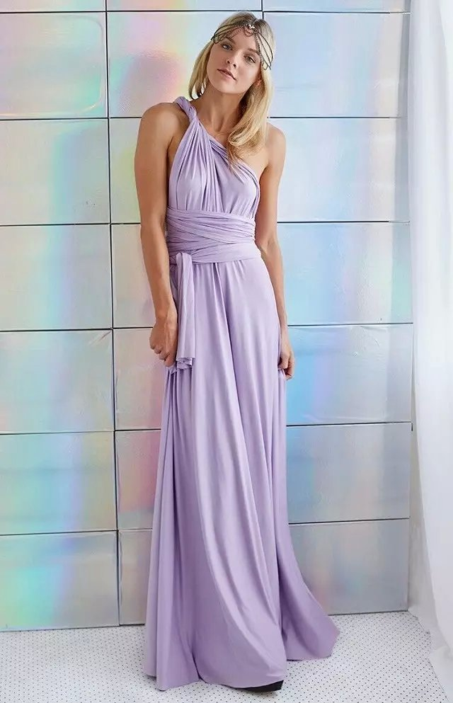 Fashion Elegant sexy purple Floor-Length Dress for women ...
