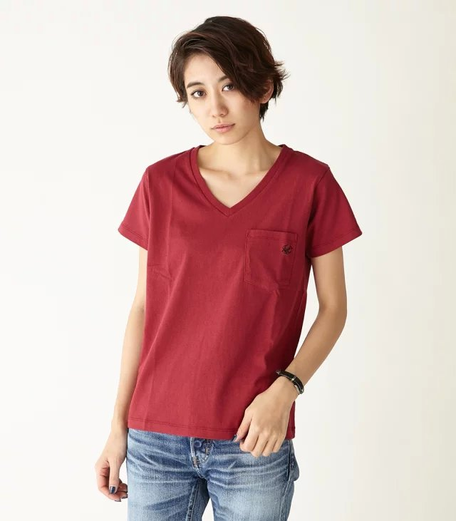 Fashion Women basic red bird Embroidery pocket cotton ...