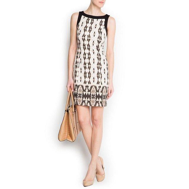 Fashion Women Elegant Geometric print mini Dress vintage ...