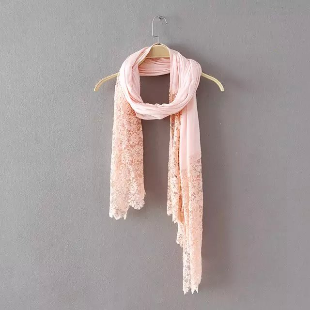 Fashion Women elegant Spring Warm pink lace patchwork ...