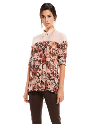 Fashion women elegant vintage floral print long sleeve ...
