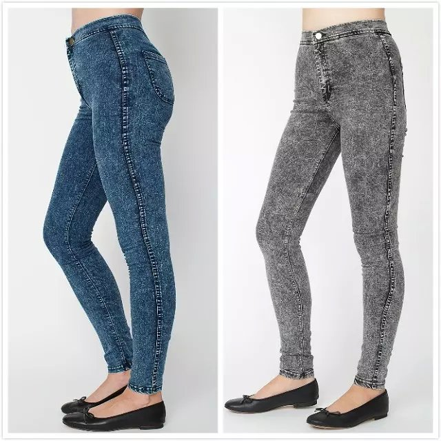Fashion women snow Denim stretch skinny pencil pants ...