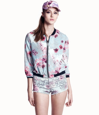 Fashion Women vintage floral Print jacket long sleeve ...