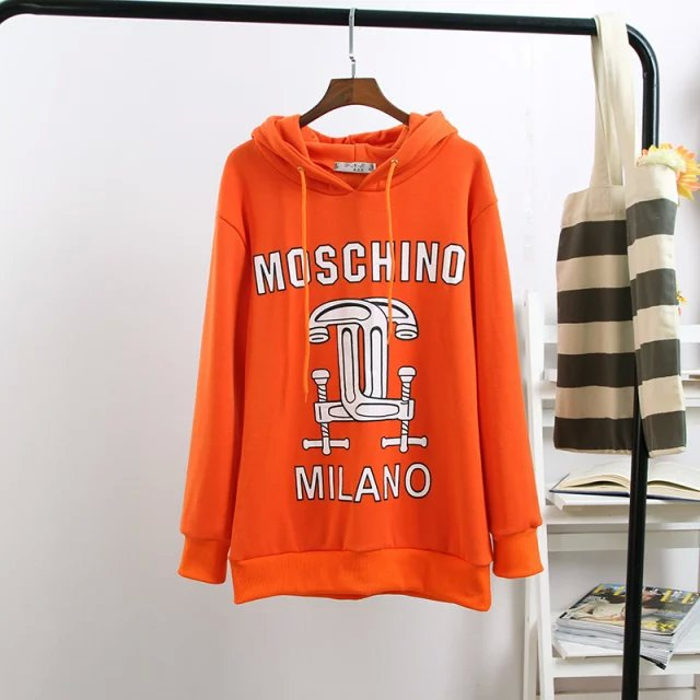 Fashion women Winter thick warm orange Drawstring hooded ...