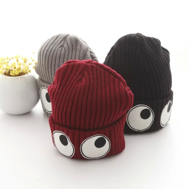 Fashion women winter warm Knitted Hat Eye patchwork ...