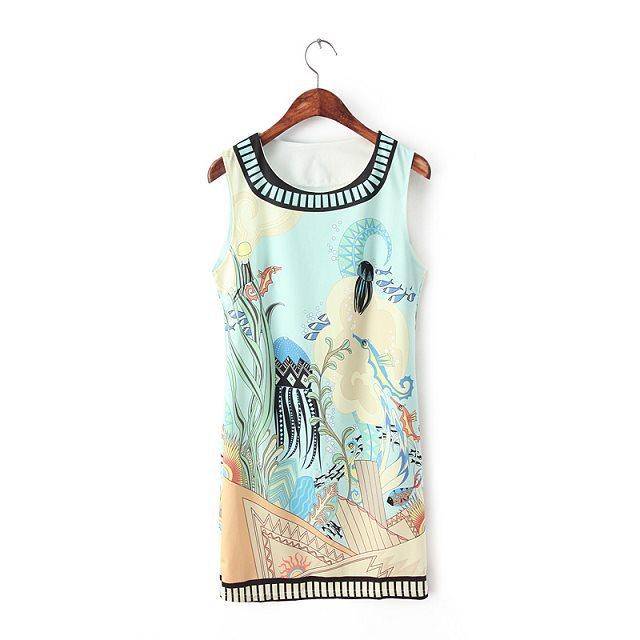 New Fashion Lady female elegant bird tree Print mini ...