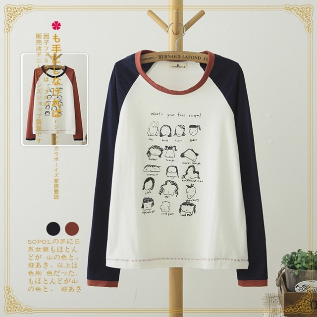 Spring Fashion women cartoon print cotton T-shirt basic ...