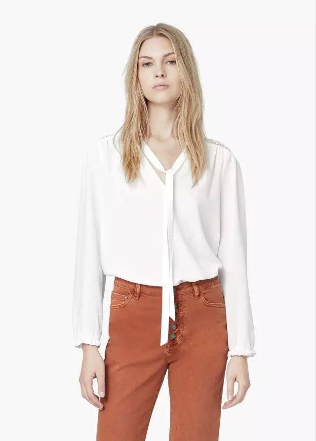 Spring Fashion Women White Chiffon blouse Lace hollow ...