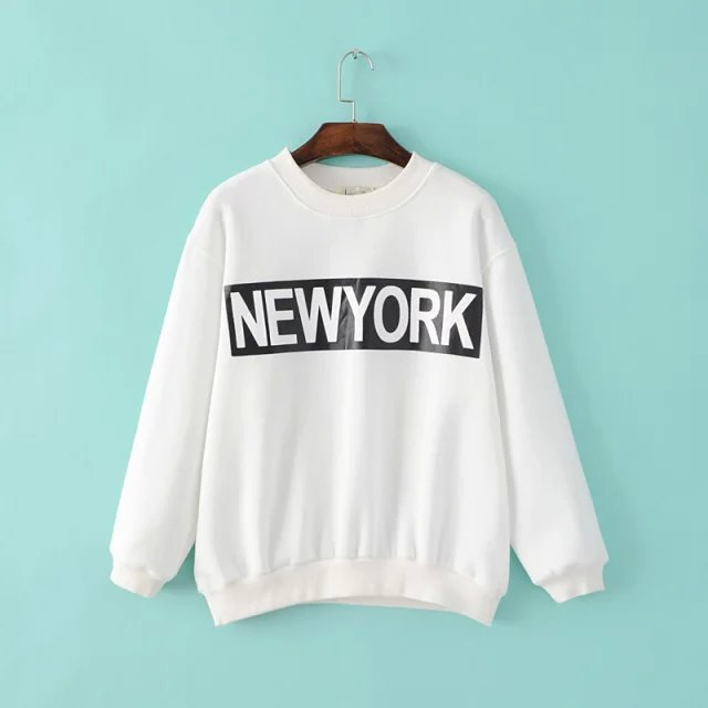 Winter thick warm Fashion women white Fleece New York ...