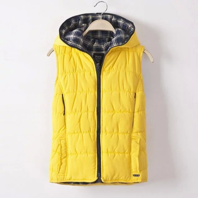 Women Fashion winter thick warm yellow Cotton Hooded ...