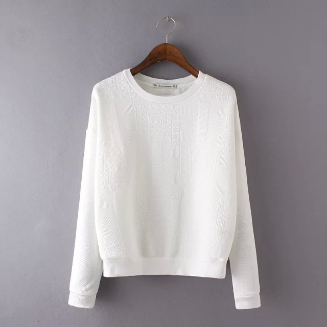 Women sweatshirts Spring Fashion cotton white pullovers ...