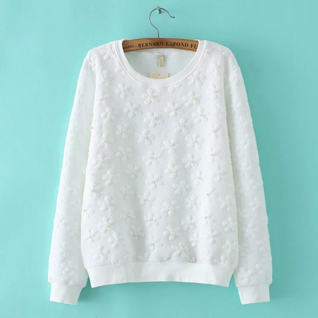Women Sweatshirts Spring Fashion sweet Beading floral ...