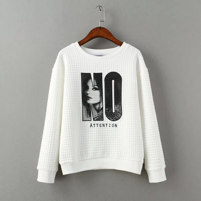 Women Sweatshirts Spring Fashion white Lette Embroidery ...