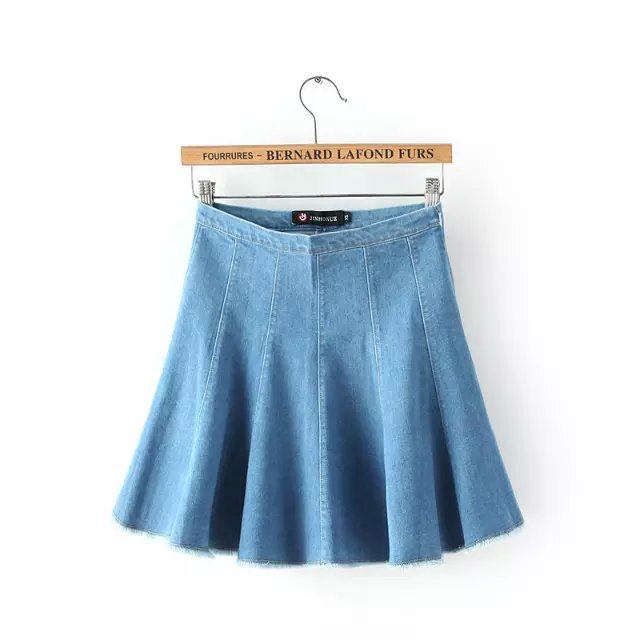American Apparel Fashion Blue Denim Skirt School Style ...