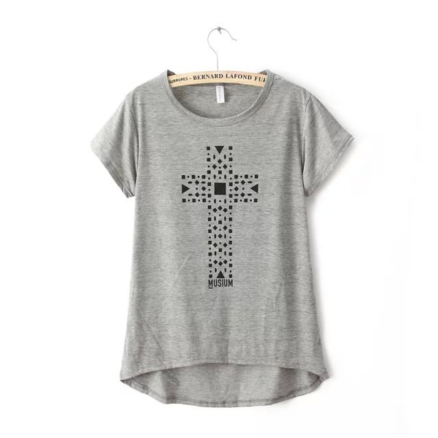 American apparel Fashion Summer Cross Print Gray Sports ...
