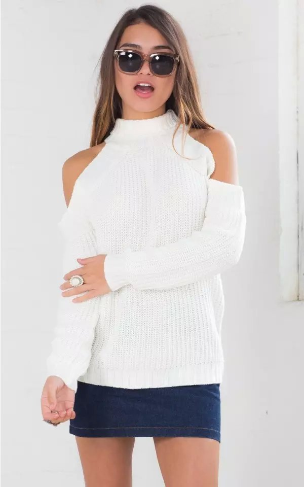 American Apparel Women White Sweaters Autumn Warm Fashion ...