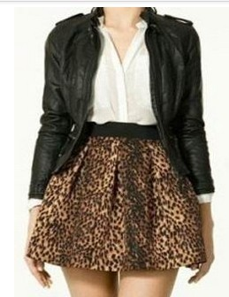 American Fashion sexy Leopard print mini pleated Skirt ...