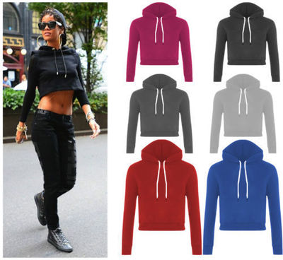 American Fashion women drawstring hooded Casual long ...