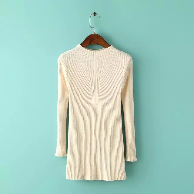 American Style Knitted Crop sweater for women O-neck ...