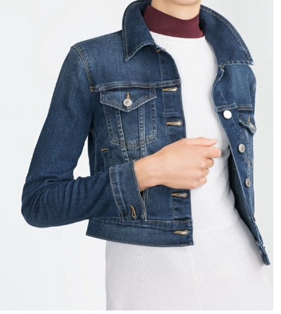 Autumn Fashion Women Elegant Blue Denim Jacket Button ...
