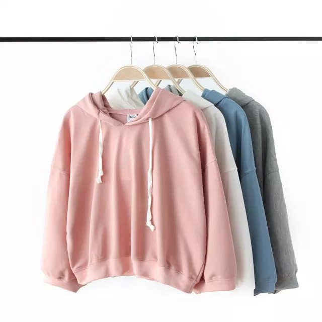 Autumn Fashion women hooded Casual long Sleeve Candy ...