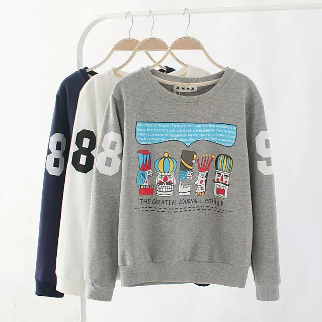 Autumn Fashion Women sweatshirts elegant Cartoon Letter ...