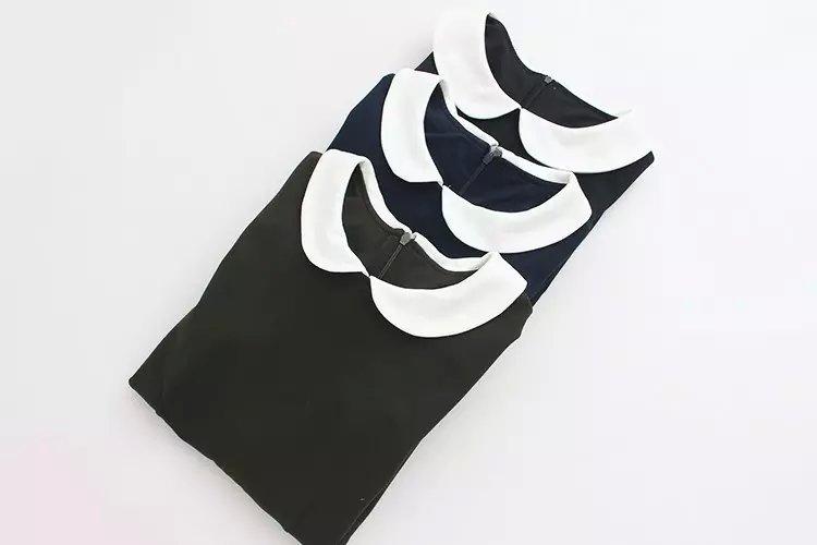 Autumn fashion women sweet black dress Peter pan Collar ...