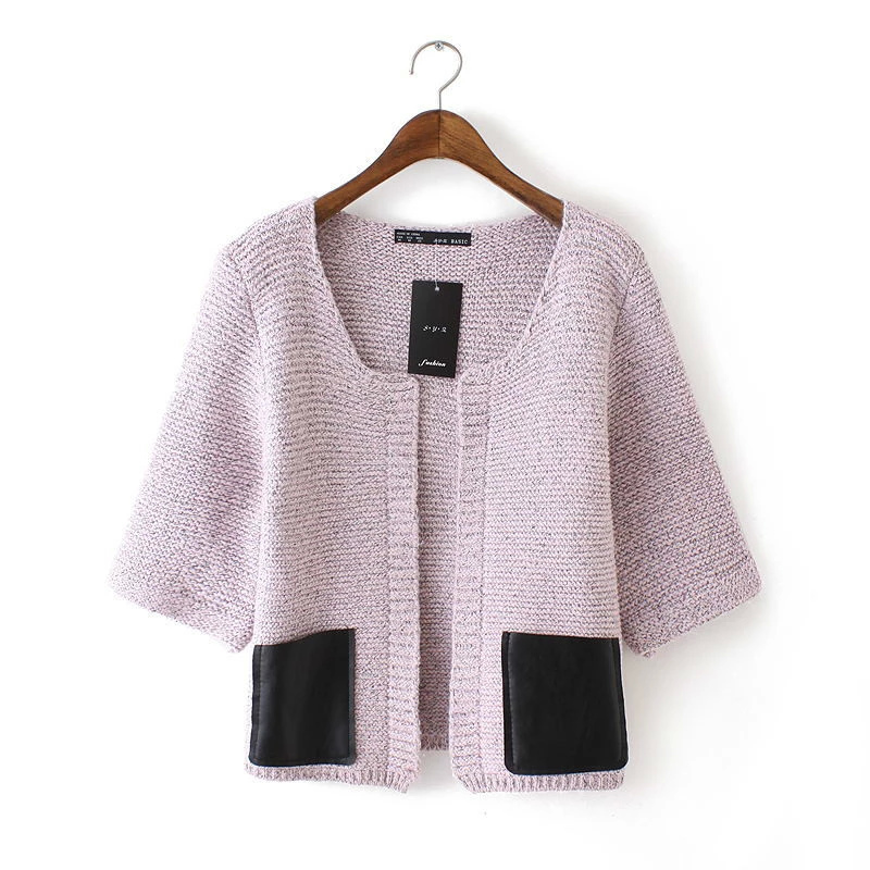 Cardigan for female Autumn European style Fashion Faux ...