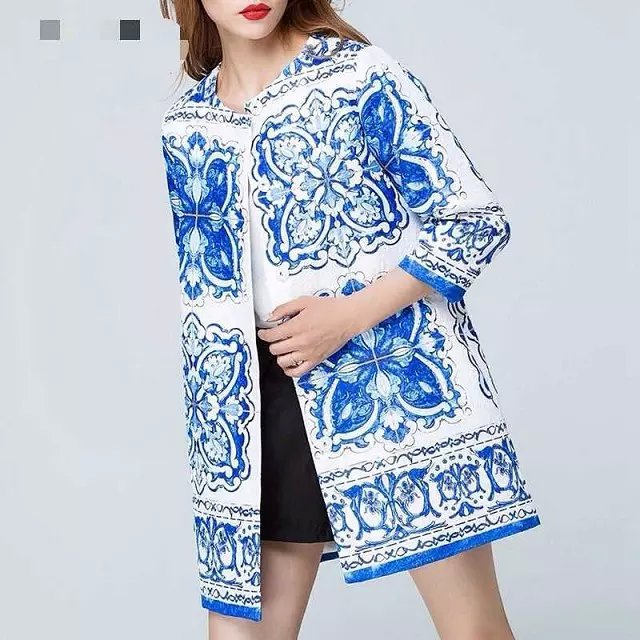 Cardigan long jacket coat for Women Fashion Autumn Blue ...