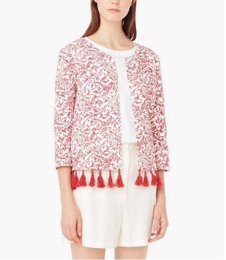 Europe style Cardigan jacket for Women Blue red Digital ...