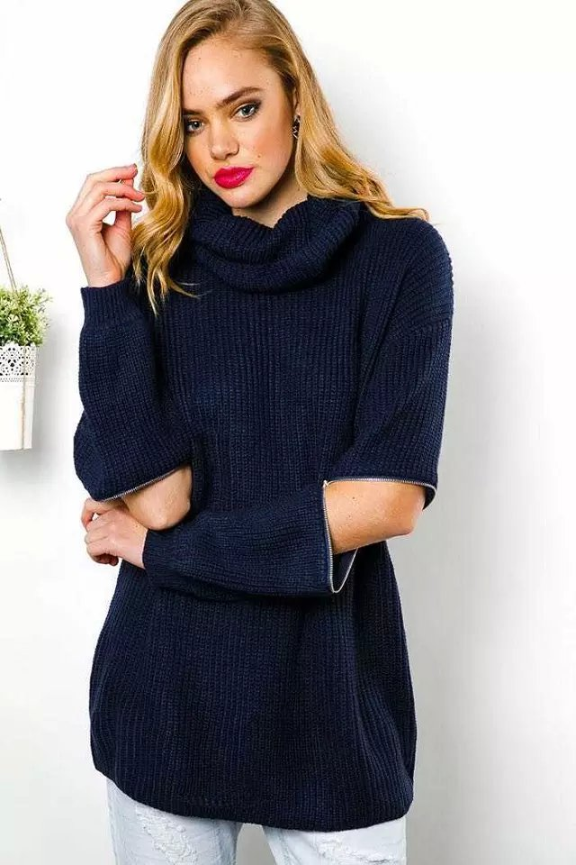 European Fashion Fashion women elegant Winter knitted ...