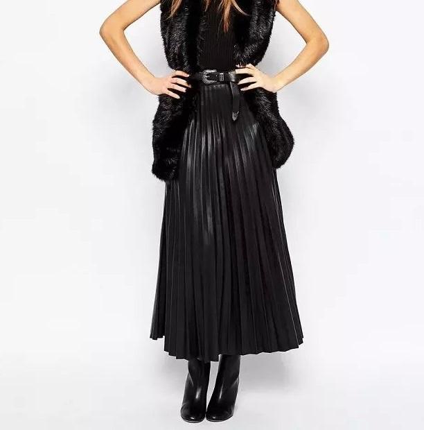 European Fashion women vintage faux leather black Ankle-...